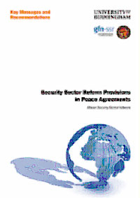 Security Sector Reform Provisions in Peace Agreements
